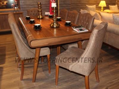 میز ناهار خوری میز نهار خوری با صندلی پرنیان