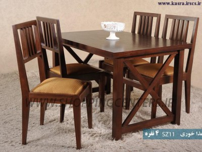 میز ناهار خوری 4 نفره SZ11
