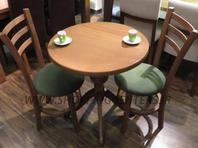 میز چای خوری دونفره پایه گلدانی