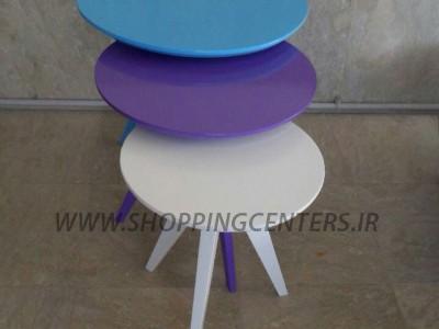 میز عسلی سه تکه نفیس با انواع رنگهای جذاب