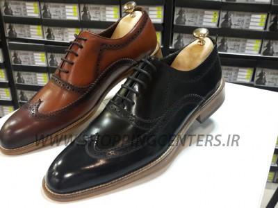 کفش مردانه کفش مردانه هشت ترک تمام چرم