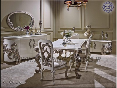 میز ناهار خوری و آینه کنسول کد 018