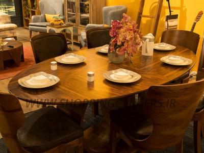 میز ناهار خوری مدل ملیس