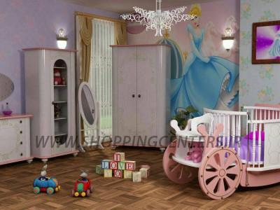 سرویس خواب نوزاد نوجوان مدل سیندرلا تخت 3 منظوره